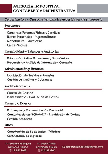 contador - capital/ pcia. bs. as.- individuos pymes - asesor