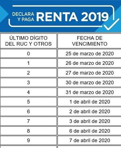 contador, cpc, renta anual 2019, www.ecjruiz.com/