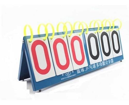 contador de pontos 6 digitos de mesa placar triplo 999 ponto