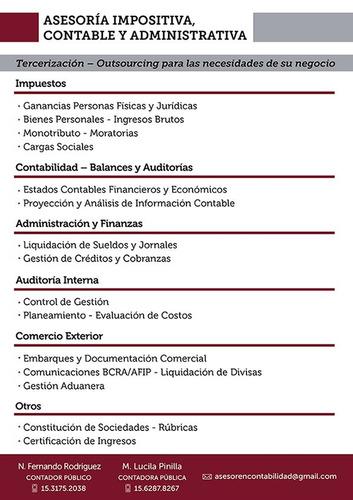 contador - declaraciones juradas - benavidez, nordelta, z n