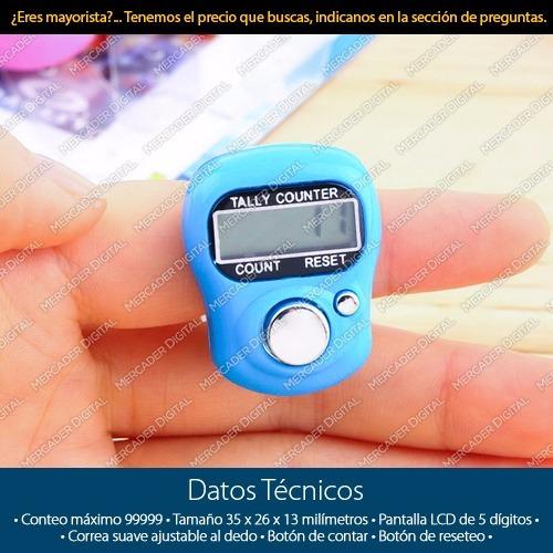 contador digital de 5 dígitos bultos manual