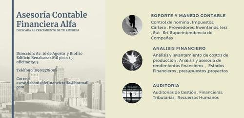 contador externo especializada en costos finanzas