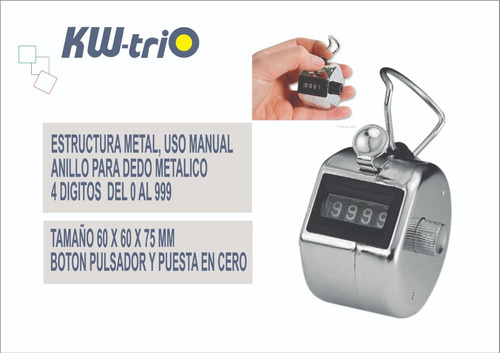 contador manual metalico kwtrio 2450