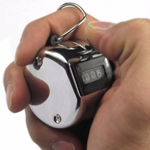 contador metálico de mano 4 dígitos golf buses evento galaxy