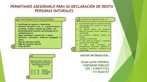 contador pùblico - declaraciones de renta