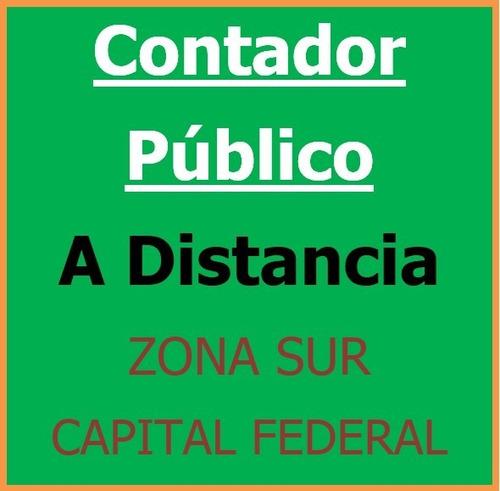 contador público a distancia - afip sueldos arba monotributo