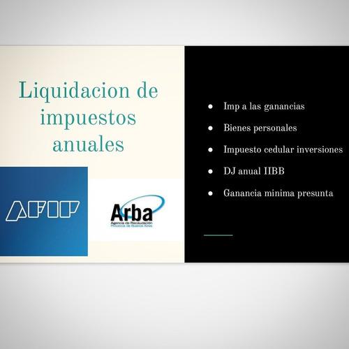 contador publico/ asesoramiento impositivo