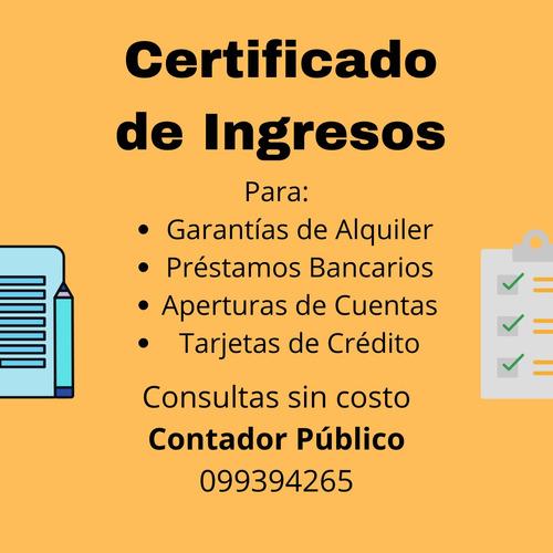 contador público - certificado de ingresos - irpf - unipers