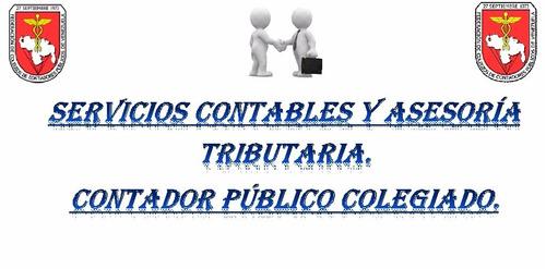 contador público colegiado. servicios y asesorias contables
