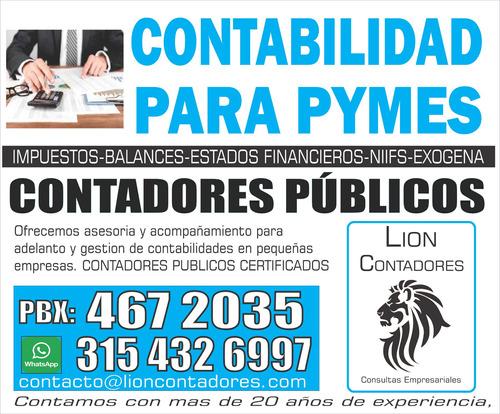 contador público declaración de renta contabilidad pymes
