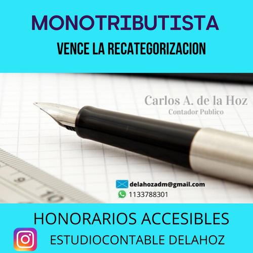 contador publico. monotributo. sociedades. afip