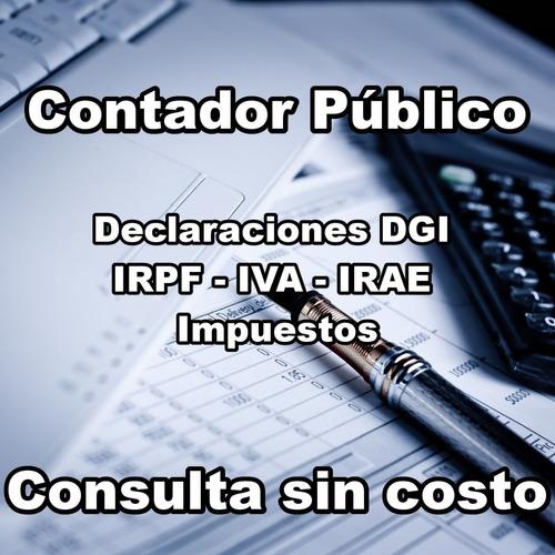contador publico - todo dgi - irpf - regularice su empresa