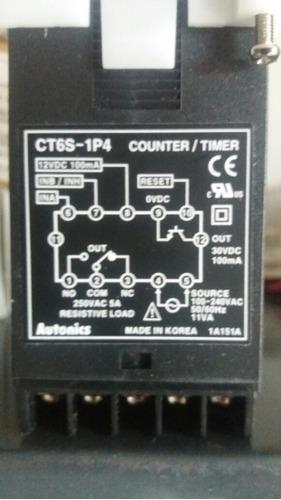 contador timer ct6s-1p4 autonics