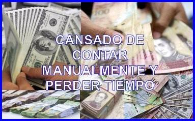 contadora billetes  detecta divisas y bs nuevos iva factura