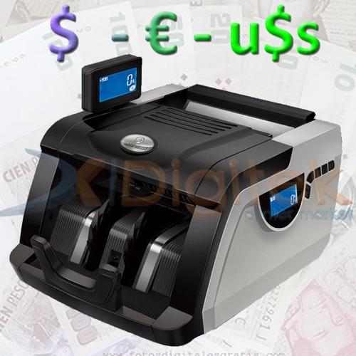 contadora de billetes maquina cuenta detecta falsos garantía