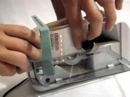 contadora de billetes portatil inalambrica rapida segura v40