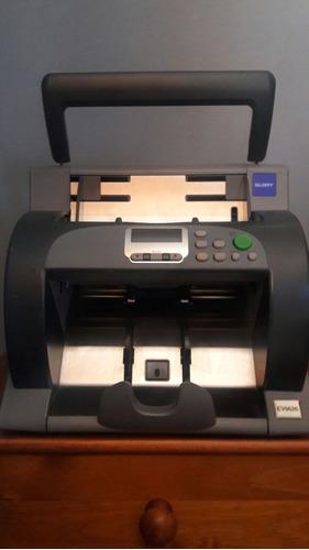 contadora de billetes y de monedas