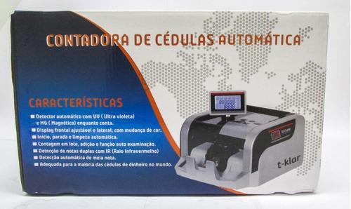 contadora de dinheiro e  cédula t-klar h-5888 110v