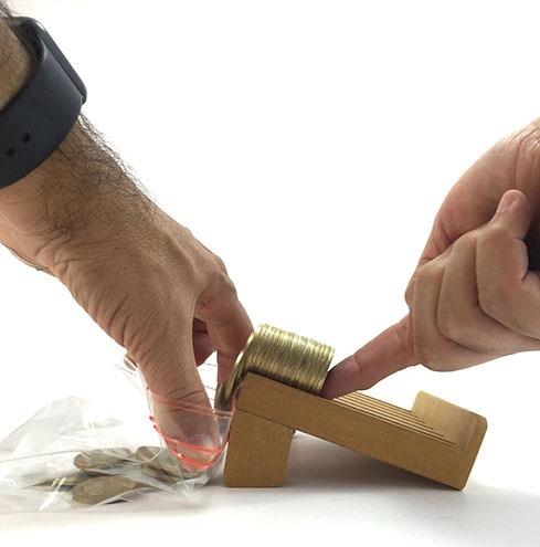 contadora de monedas manual maquinita expendedora tragamoned