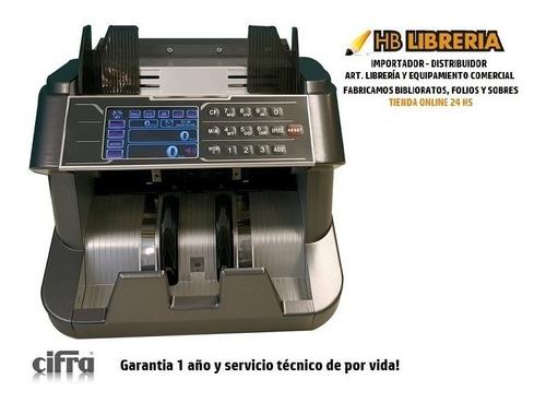 contadora dinero cifra 8080 pro - detector billetes falsos $200 $500 1000