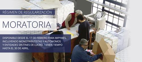 contadora: moratoria, certi, sueldos, imp, contabilidad