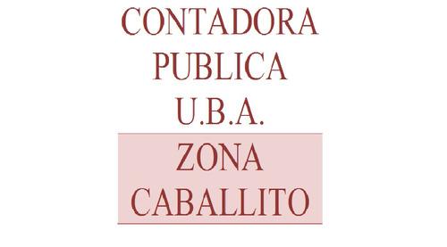 contadora publica nacional u.b.a. - zona caballito