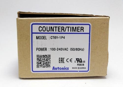 contador/temporizador autonics ct6y-1p4