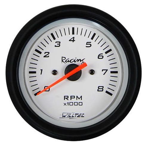 contagiros rpm 52mm willtec plus fundo branco 52mm tuning