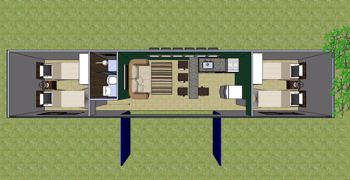 Container casa escritorio almoxarifado banheiro r em mercado libre - Modulos de casas ...