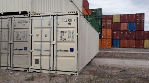 container maritimo contenedor usado 40 pies