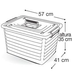 container organizador 50 lts bau decorado com rodas caixa nf