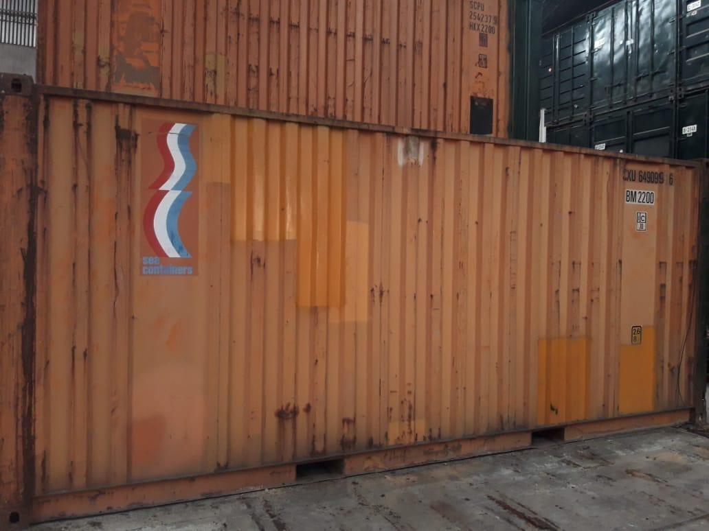 container usado 20 pies tacho obrador deposito ofis (25