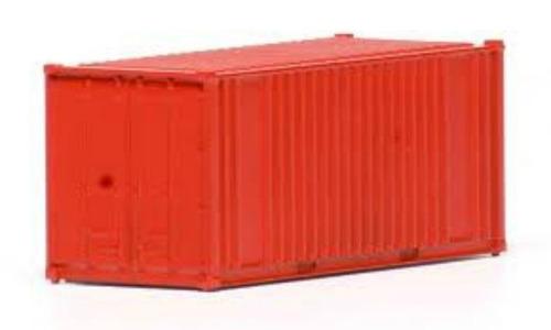 container vermelho 20 pés ho 1:87 frateschi 20751