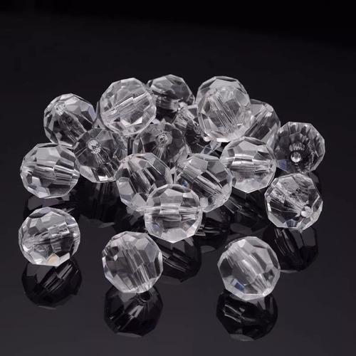 contas bola cristal facetado acrílico 1 pacote 500gr 14mm