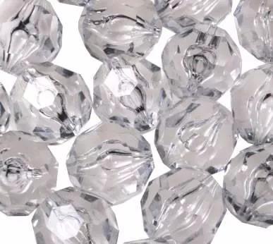 contas bola cristal facetado acrílico 1 pacote 500gr 8mm