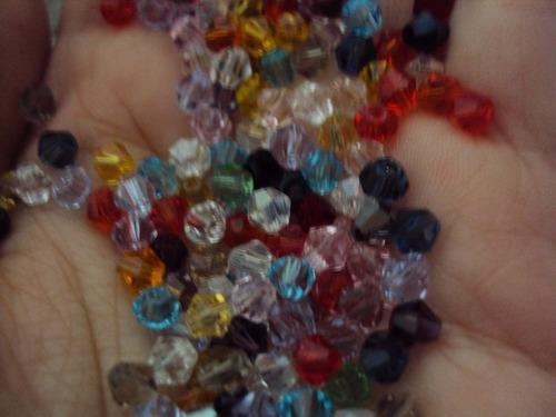 contas de cristais swarovski com furo 500 unidades