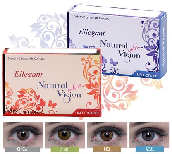 b22b58a338409 Lentes De Contato Color Natural Vision Anual Ellegant Mel - R  159 ...