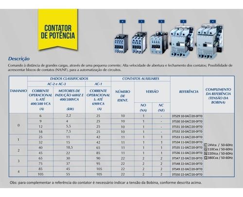 contator altronic 3ts31 (3tf41) 220v 12 / 25 amperes 1na