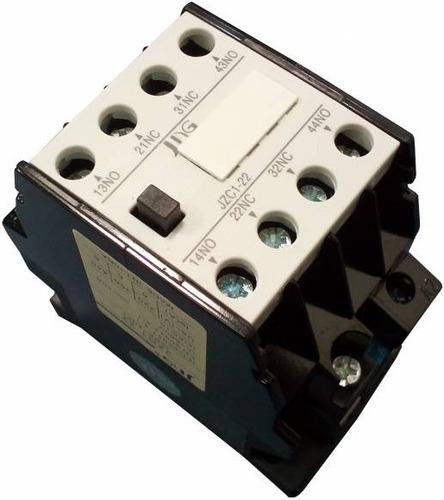 contator auxiliar jng jzc1-22 24vca / similar siemens