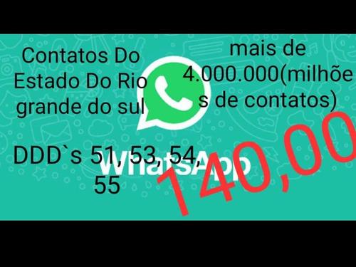 contatos whatsapp para divulgação mais de 4.000.000 contatos