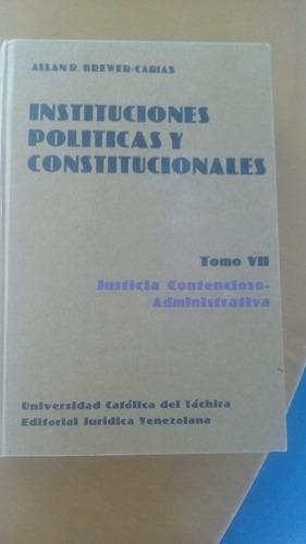contencioso administrativo tomo viii de instituciones politi