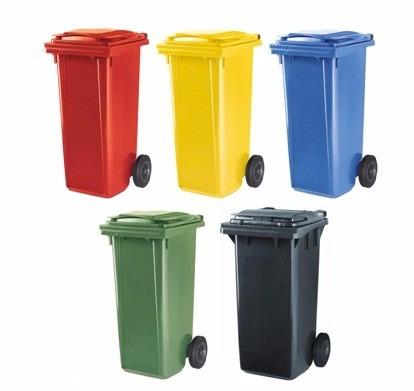 contendor de basura de 120 lts. marca plastic omnium.