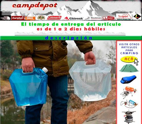 contenedor de agua flexible carpas picnic camping estufas