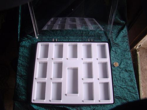 contenedor de coleccion insectos autenticos + 13 insectos