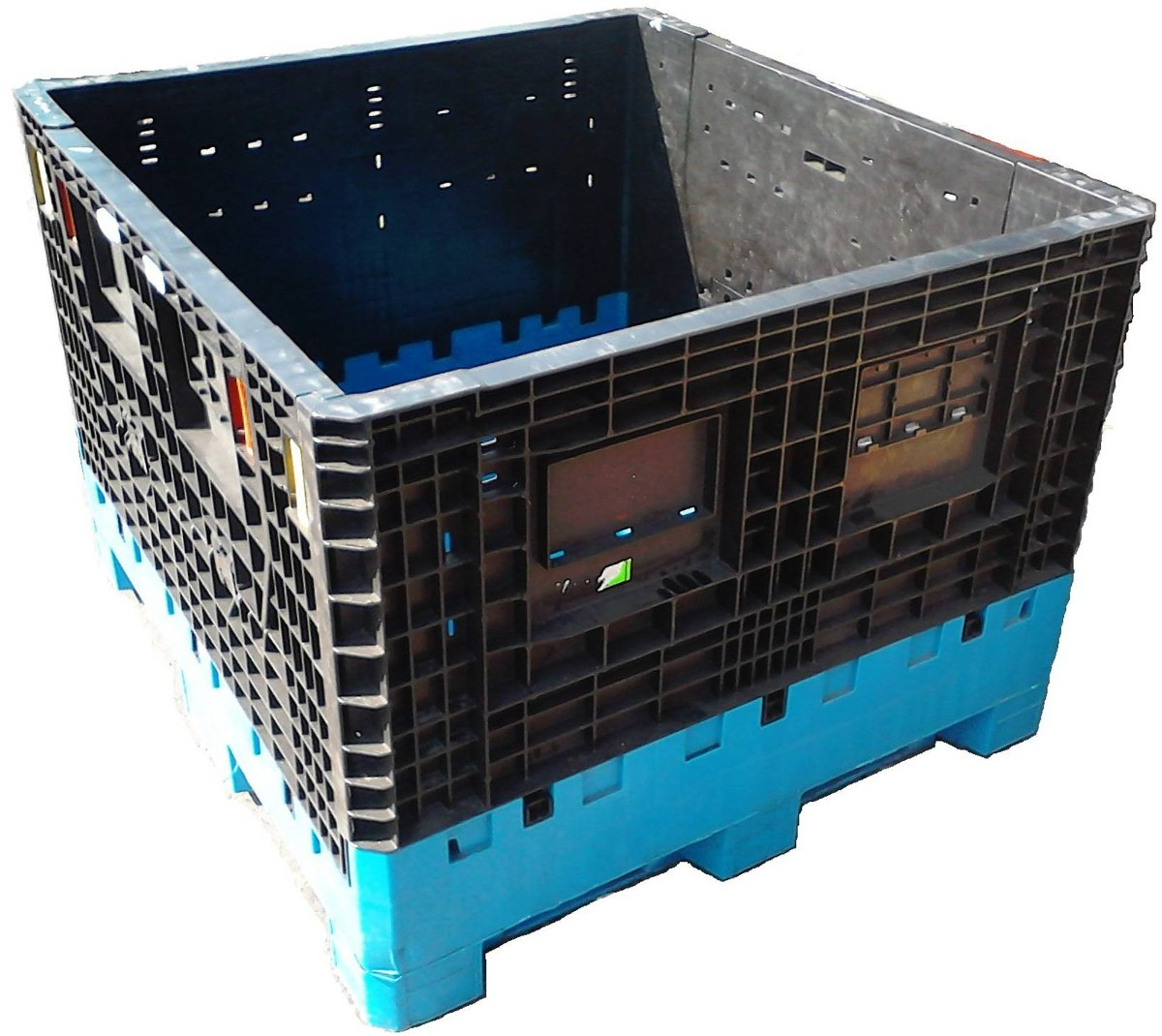 Contenedor de plastico colapsable ropak orbis varias for Cajas de plastico precio
