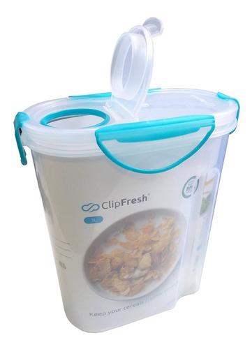 contenedor para alimentos y cereal 3 litros clip fresh