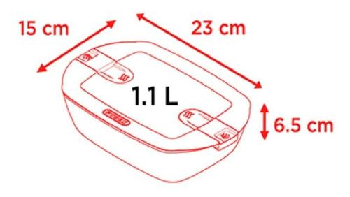 contenedor rectangular hermetico o cuisine 1.1l
