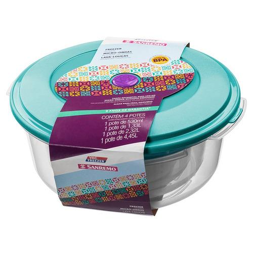 contenedor redondo bajo san remo  por 2 unidades 4,5lts