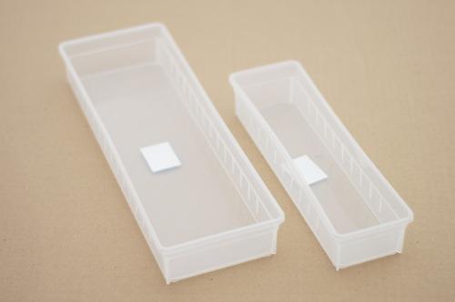 contenedor regulable para cajon con divisiones. transparente