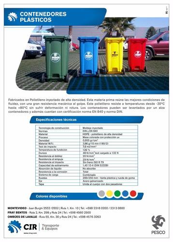 contenedor residuos reciclado basura 240l con envio incluid